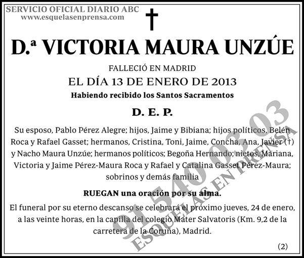 Victoria Maura Unzúe